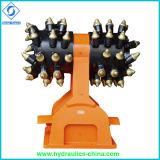 Smerigliatrice idraulica della tagliatrice di timpano del collegamento dell'escavatore