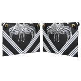 형식 PU 어깨에 매는 가방 차가운 얼룩말 인쇄 지갑 Wzx1137