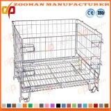 Supermarkt-Lager-stapelbarer Stahlmaschendraht-Behälter-Speicher-Rahmen (Zhra21)