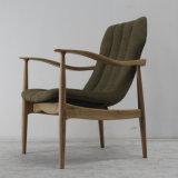 Madeira contínua da alta qualidade de madeira da mobília com a cadeira do sofá da tela