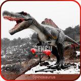 Da fábrica escultura feita sob encomenda do dinossauro de Spinosaurus da simulação diretamente