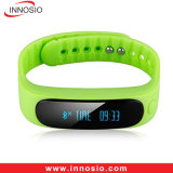 Bracelete Smartband da saúde de Bluetooth do silicone/silicone do Wristband da aptidão E02