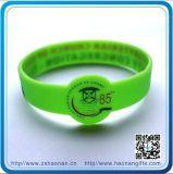 Wristband di gomma su ordinazione del silicone del braccialetto dei punti di promozione