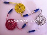 Cable micro de la sonrisa del USB del cable de datos del USB para el teléfono móvil