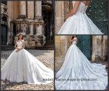 Платье венчания 2017 Wl02 Tulle шнурка голубых мантий шарика акцента цвета Bridal кристаллический
