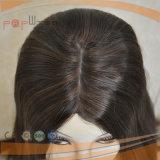 Tipo completo peluca del cordón del color del trabajo castaño de Brown Shevy de la piel