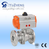 Pneumatic Actuator를 가진 2PC Stainless Steel Ball Valve