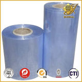 Película rígida transparente desobstruída super do PVC para o empacotamento e a impressão