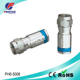 RG6 Compression rf Cable Connector per Coaxial Cable (pH6-5007)