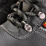 Специальная отражательная ткань выравнивая черную обувь безопасности заварки
