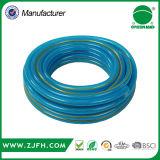 Tuyau tressé vert de fibre renforcé par PVC