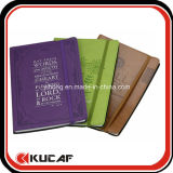 Cuaderno de cuero del diario del papel del Hardcover de la PU de la aduana profesional