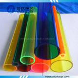 Várias cores das tubulações acrílicas de PMMA com o GV aprovado