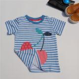 子供の綿の縞によって印刷されるTシャツ