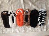 6つのカラー女性の動物のヘッド屋内靴