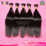Venda por atacado em Hair Indian Body Wave / Straight Human Bulk Hair Bundles