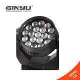 Bester Verkauf! 19PCS 12W RGBW LED bewegliches Hauptsummen-Wäsche-Matrix-Licht, Wäsche-Aura-Scanner