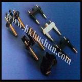 fiche 2-Pin ronde avec le cuivre, commandes d'OEM et d'ODM acceptables (HS-BS-0025)