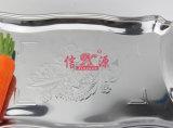 Cuve décorative de conception de fleur d'acier inoxydable (FT-0626)