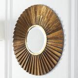 Specchio della stanza da bagno incorniciato metallo a forma di ventaglio Sunburst caldo del giro di vendite