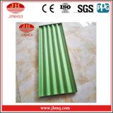 El panel de pared decorativo de PVDF/Powder de la placa acanalada revestida verde del aluminio (Jh121)