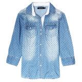 Кофточка 2016 верхних частей одежд женщин печатание джинсовой ткани способа