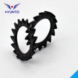 Rondelle de freinage externe de dent de scie avec le zinc noir