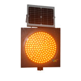 Gelber Solarverkehrs-Warnleuchte der Verkehrssicherheit-400mm