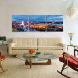 Печати искусствоа стены картины Tempered стекла Multi панелей сценарные