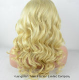 Human blond Hair Full Lace Wig avec Light Color