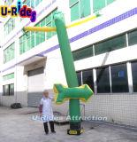 イベントのための緑色の矢の膨脹可能な空Dancer