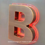 LED Outdoor Custom Metal Luminous Word para Logo Sign