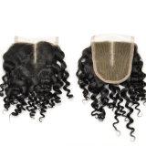 Chiusure crespe 100% del merletto dell'arricciatura separate metà dei capelli del Virgin