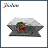 Sac à provisions de papier fait sur commande estampé par football de laminage lustré avec l'étiquette