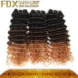 カーリーヘアー様式の製品3の音色のOmbreのブラジルの毛