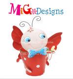 Beau planteur d'Animanl en métal d'abeille de bébé en décoration de vente