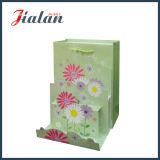 광택이 없는 박판으로 만들어진 아이보리페이퍼 3D 꽃 선물 종이 핸드백을 주문을 받아서 만드십시오