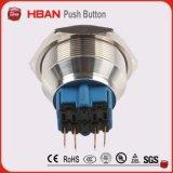 interruptor de pulsador del acero inoxidable de 30m m