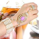 Form CZrhinestone-Gold überzogenes Zink-Legierungs-Armband und Ring-gesetztes Armband