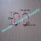 Popular Design 22mm Metal Material Bright Pink Bulb Safety Pins