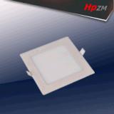 La luz del panel amarillo cuadrado de aluminio redondo LED