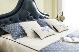 [فوشن] صناعة غرفة نوم منزل أثاث لازم جلد حديث ليّنة سرير لوحة رأسيّة