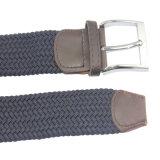 Correia elástica trançada estiramento tecida personalizada nova com liga de couro