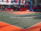 Tipo azulejos del baloncesto, suelo modular de la cancha de básquet, suelo plástico de la red