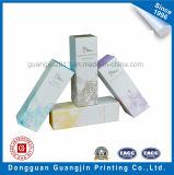Rectángulo de empaquetado cosmético de la cartulina del papel de arte con la capa ULTRAVIOLETA