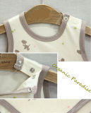 Bodysuit infantile avec Cute Printing Ykk Button Nature Color Without Dyeing