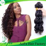 Hochwertiger natürlicher brasilianischer Haar Funmi Jungfrau-Haar-Großhandelseinschlagfaden