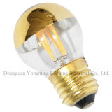 Halbes Gold Mirror LED Bulb, 2W G45 LED Filament Bulb
