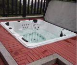 Ao ar livre no solo 5 pessoas Classic Acrylic SPA Bath com 2 salões