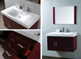 Тщета ванной комнаты темного Brown тазика итальянки одного с зеркалом
